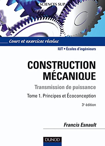 Construction mécanique - Transmission de puissanc...