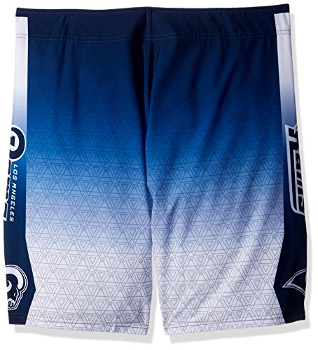 FOCO Men s Los Angeles Rams Extra 36 Gradient Board Short  Team Color  X-Large