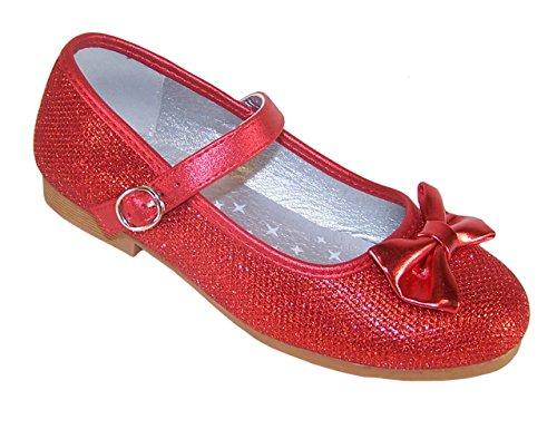 Rote Schuhe Madchen für Partys und besondere Anlässe Größe Euro 27 (Rot Für Mädchen Dorothy-schuhe)