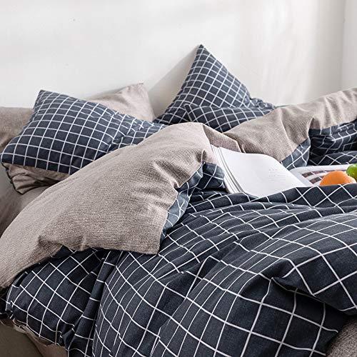 yaonuli Gewaschene Baumwolle hautfreundlich atmungsaktiv skrupellos gut gebrauchen vierteilige Bettwäsche Bettbezug Jimmy-blau 1,2 m Bett dreiteilig