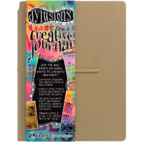 Ranger DYJ34100 Dylusions Creative Journal, Paper, braun, 30 x 22.9 x 2.5 cm (Cardstock Journal)