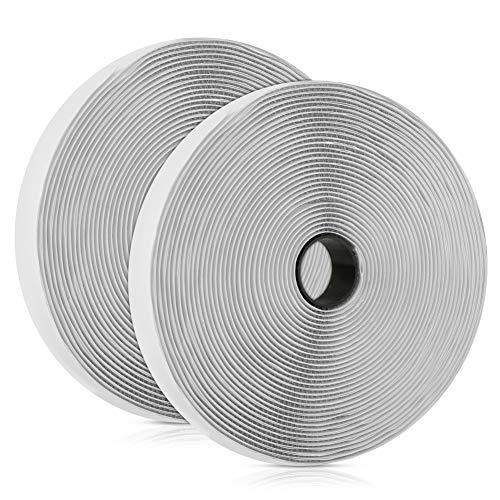 Vegena Klettband Selbstklebend Extra Stark, Klettband Selbstklebend 10M, Klettverschluss Selbstklebend Doppelseitiges Klettband Selbstklebendes Flauschband Hakenband Fliegengitter, 20mm Breit Weiß