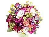 Blumenstrauß Ranka dunkelrote Hortensie Ø 20 cm aus Seidenblumen, hohe Qualität
