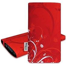 Stilbag Etui 'MIKA' pour HTC 8S - Dessin: Rote Blumen
