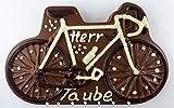 12#041819 Schokolade Fahrrad Zartbitter, als Schokoladenplatte, Tortenverzierung, Schokolade, Torte