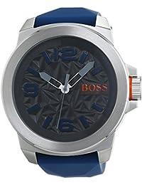 BOSS Orange Herren-Armbanduhr NEW YORK Analog Quarz Silikon 1513355