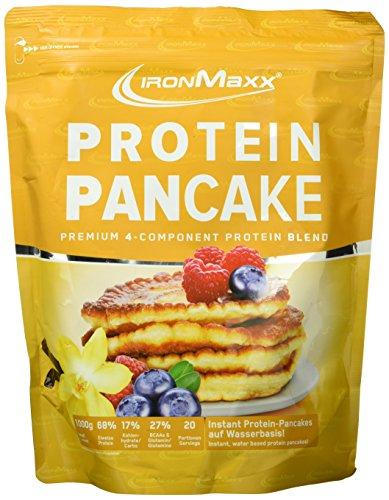 IronMaxx Protein Pancake Vanille / Low Carb Pancakes mit über 65% Eiweiß / Leckere Pfannkuchen-Backmischung mit 4-Komponenten Protein / 1 x 1 kg Test