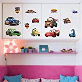 Oren Empower Series Of Funny Cartoon Cars Wall Stickers For Your Kid (Finished Size On Wall - 126cm (w) X 65cm (h))