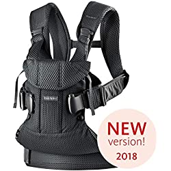 BABYBJÖRN One Air-,Mochila Porta Bebé, 2018 Edition, 3D Tejido de red , Negro claro