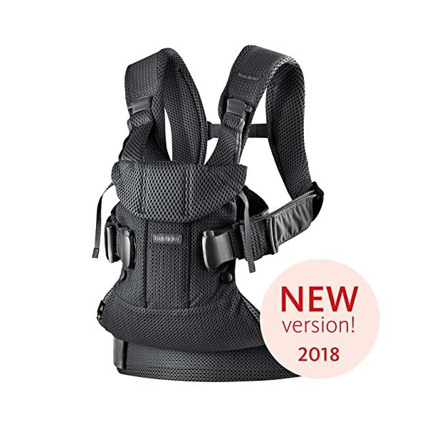 BABYBJÖRN Baby Carrier One Air, 3D Mesh, Black, 2018 Edition Baby Bjorn The latest version (2018) with soft and breathable mesh that dries quickly Ergonomic baby carrier with excellent support 4 carrying positions: facing in (two height positions), facing out or on your back 1