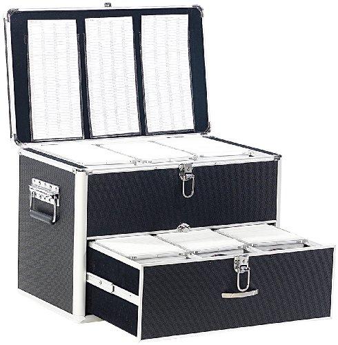 Xcase CD Aufbewahrungskoffer: CD/DVD/BD-Koffer für 1000 CD/DVD/BDs (CD Aufbewahrung Koffer) -