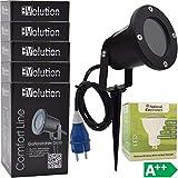 Evolution Gartenstrahler GU10 inkl. 3,5W SMD LED Aussenstrahler 5er Set