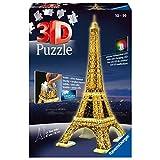 Ravensburger 125791 Puzzel Eiffeltoren Night 3D, 216 Stukjes, vanaf 10 jaar