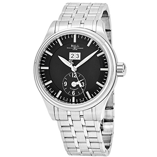 BALL MEN'S TRAINMASTER FIRST FLIGHT 40MM AUTOMATIC ANALOG WATCH GM1056D-S2J-BK