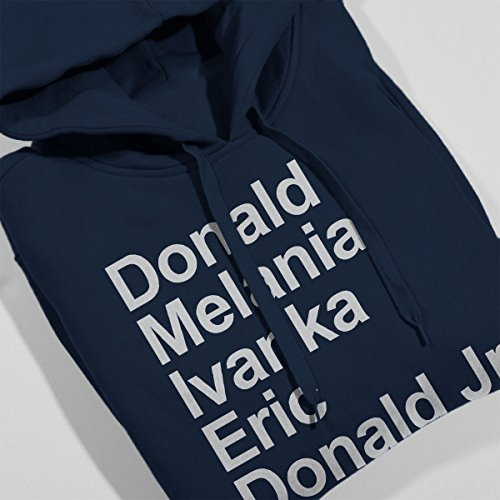 Arial Trumps Donald Trump Women's Hooded Sweatshirt Navy blue