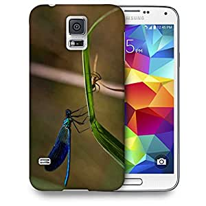 Snoogg Dragonfly and Spider Printed Protective Phone Back Case Cover for Samsung S5/S IIIII