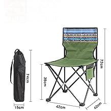 Be&xn Sillas de Camping Plegables, Ligero portátil Mochila Silla para Exteriores, Capacidad de 330