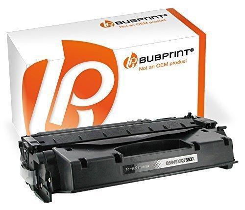 Bubprint Toner kompatibel für HP Q5949A Q7553A für Laserjet 1160 1320 1320N 1320NW 1320TN 3390 M2727NF M2727NFS P2014 P2015D P2015DN P2015N Schwarz