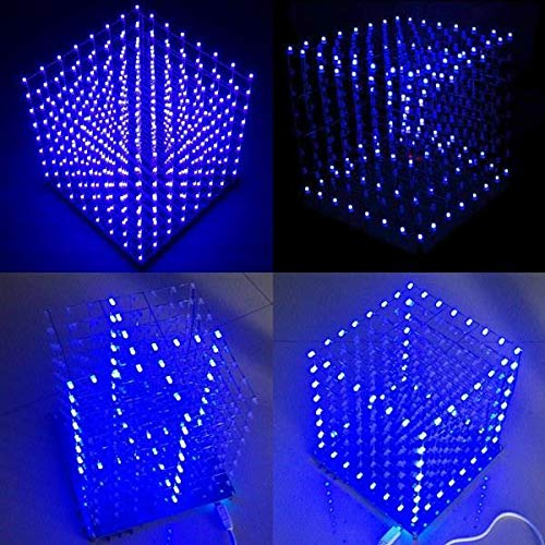 Straightforward 3d 8x8x8 Square Diy Led Blue Cubes Kit Mp3 Music Spectrum Cubes Beads Bag Circuits Audio & Video Replacement Parts