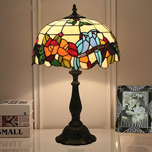 Tiffany Set (Tiffany Lampe Birds Set Tischleuchte Pendelleuchte Stehleuchte TLS-007,12InchTableLamp)