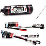 AVAX DT-1 13 cm - Termómetro de cocina Digital LCD sonda  - Rango de temperatura: -50C al 300C / -58F al 572F - NEGRO