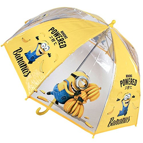 Paraguas manual poe transparente burbuja 45cm Minions