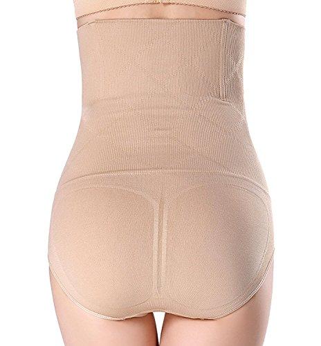 Damen Miederslip mit Bauch-weg-Effekt Miederhose Butt Lifter Shaper figurenformend Shapewear Beige