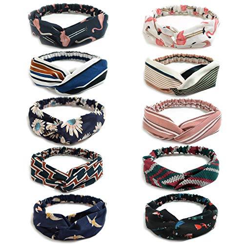 Zuf/ällige Farbe DaoRier 2 St/ück Sport Yoga Stirnband Weiche Headbands Turban Kopfband Haarspange Damen Haar Band