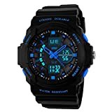 #8: Skmei Analogue-Digital Black Dial Men's Watch - 5590-blu