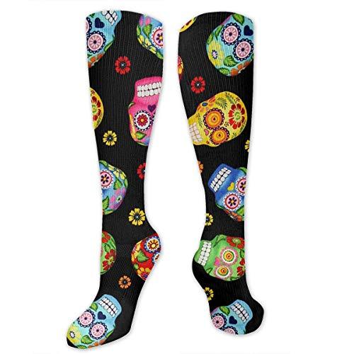 apnzll Cantina Skulls Black Hiking Trekking Socks Casual Knee High Socks for Running,Medical,Athletic,Edema,Travel,Pregnancy,Nursing 50CM (Socken Knie-hohe Mädchen-rosa)