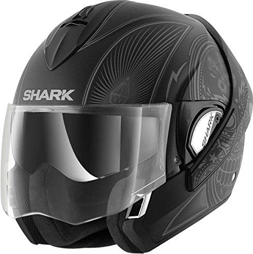 SHARK EVOLINE SERIE 3 MEZCAL matt sw./anhtr./silber XL (Kevlar Helm Xl)