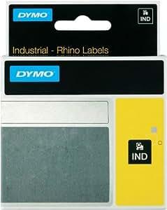 12 Mm, 18435 dYMO rHINO iD1 vinyle-noir/orange-cadre, ruban d'étiquetage s0718490 12 mm de large, 5 5mtr.