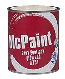 McPaint 2in1 Buntlack glänzend Reinweiß 0,75 Liter