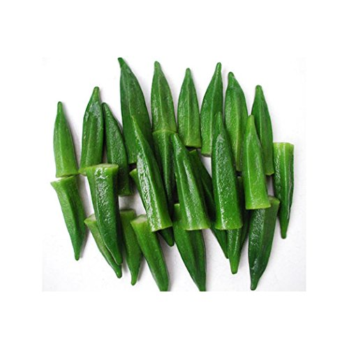 WuWxiuzhzhuo Paquet de 100 Graines de Gombo, Ambrette - Plantes en Pot Organiques - pour Maison et Jardin