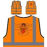 Festa Junina Neues Festgeschenk Personalisierte High Visibility Orange Sicherheitsjacke Weste e939vo