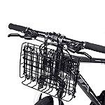 ANZOME-Anteriore-Manubrio-Cestello-per-bici-Pieghevole-e-portapacchi-Carrello-portapacchi-Bicicletta-adatto-per-biciclette-pieghevoli-Mountain-Bike-Nero-Argento