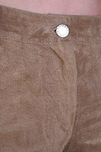 DOLCE & GABBANA PANTALON EN CUIR pour femmes pantalon cuir sauvage beige #69 Beige