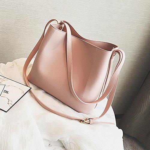 Sprnb La Nuova Primavera Ed Estate Moda Tutti-Match Borsa Borse Crossbody Bag,Nero Pink