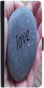Snoogg Love Pebble Designer Protective Phone Flip Case Cover For Lenovo Vibe X3