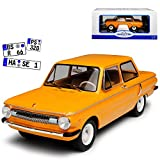alles-meine.de GmbH Saporoshez Saporosch ZAZ SAS 966 3 Türer Orange Braun 1966-1972 1/18 Model Car Group Modell Auto