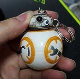 6 cm Star Wars Episode VII BB-8 Droid Roboter Schlüsselanhänger Action Figur, Plastik