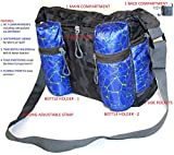 #10: Baby Diaper Changing Bag - Waterproof   Diaper Bags for Mothers , Babies Diaper Travel Bag With Multiple Pockets and Two Bottle Holde ,   Multi Purpose New Born Baby Travel Bag   Trendy Nappy Changing Bag ( Blue )  Multifunctional Twin Baby Diaper Changing Bag   Maternity Hand Bag