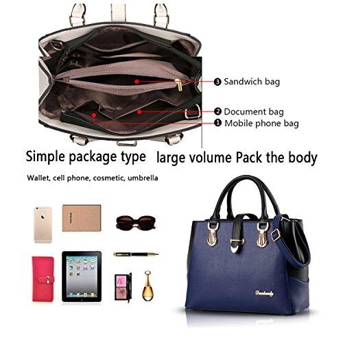 Tisdain Il nuovo raccoglitore di capacità della borsa femminile del sacchetto del messaggero della spalla di modo dell'unità di elaborazione delle borse delle nuove signore zaffiro