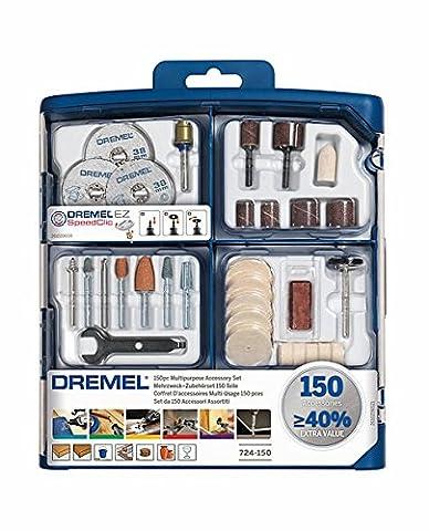 Dremel 724 Multipurpose Accessory Set, 150 Pieces