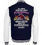 Hochwertige College Sweatjacke - Feuerwehr Shirt · Geschenk für Feuerwehrmänner/Frauen · Spruch: Feuerwehrfrau werden