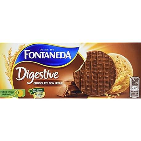 Fontaneda Digestive Galletas cubiertas de chocolate con leche 300 g