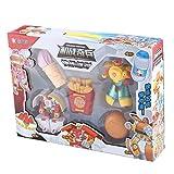 JohnJohnsen Lustige einzigartige Design Kunststoff Transformation Transformers Kinder Modell Lebensmittel Roboter Chips Hamburger EIS Puzzle Spielzeug (Mehrfarben gemischt)