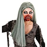 NET TOYS Máscara de Terror Boca de Zombi de Halloween Zombi Boca Herida Cara Maquillaje...
