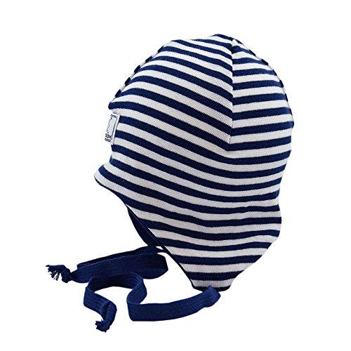 PickaPooh Baby Mütze Häubchen Radler Bio-Baumwolle, Marine/Weiß Gr. 44