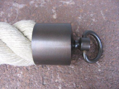 Seilendkappe mit Ring bronziert für 40mm Handlaufseil